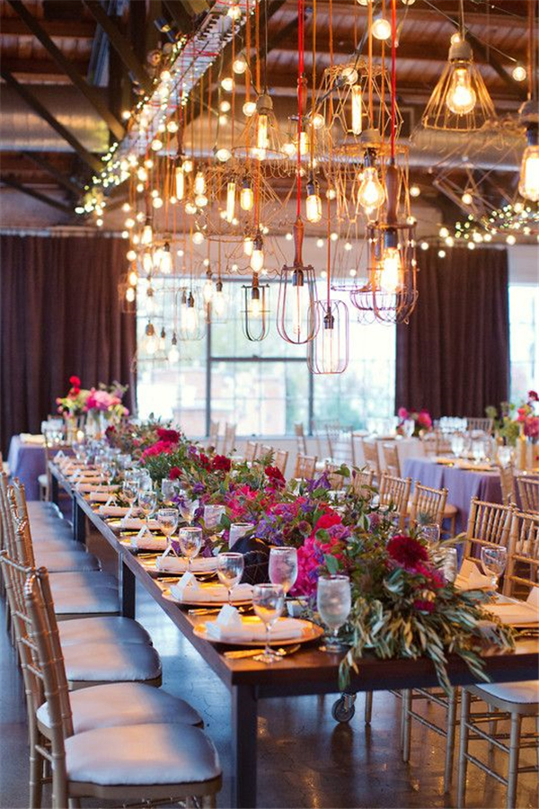 20 Stunning Rustic Edison Bulbs Wedding Decor Ideas Deer