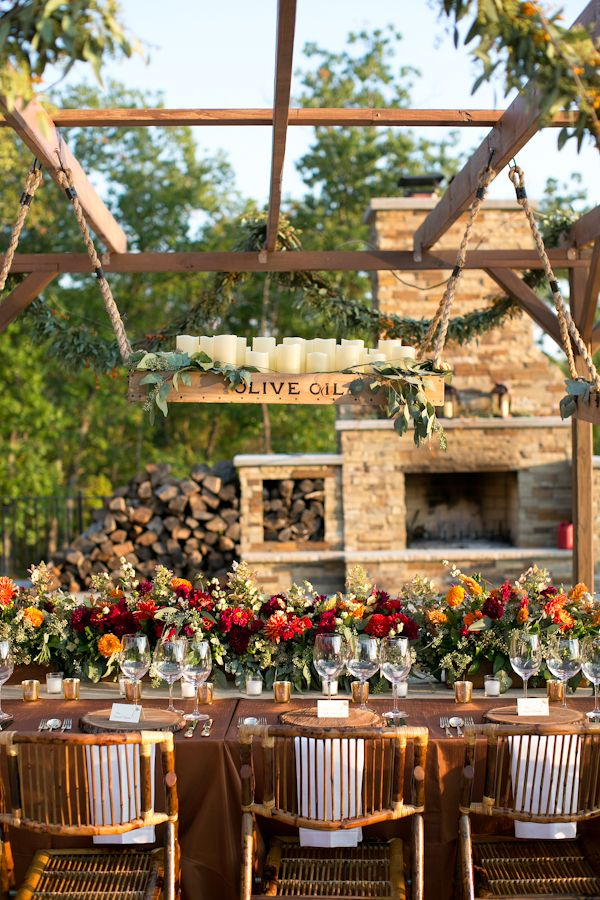 40 Amazing Outdoor Fall Wedding Décor Ideas | Deer Pearl ... on Backyard Table Decor id=88410