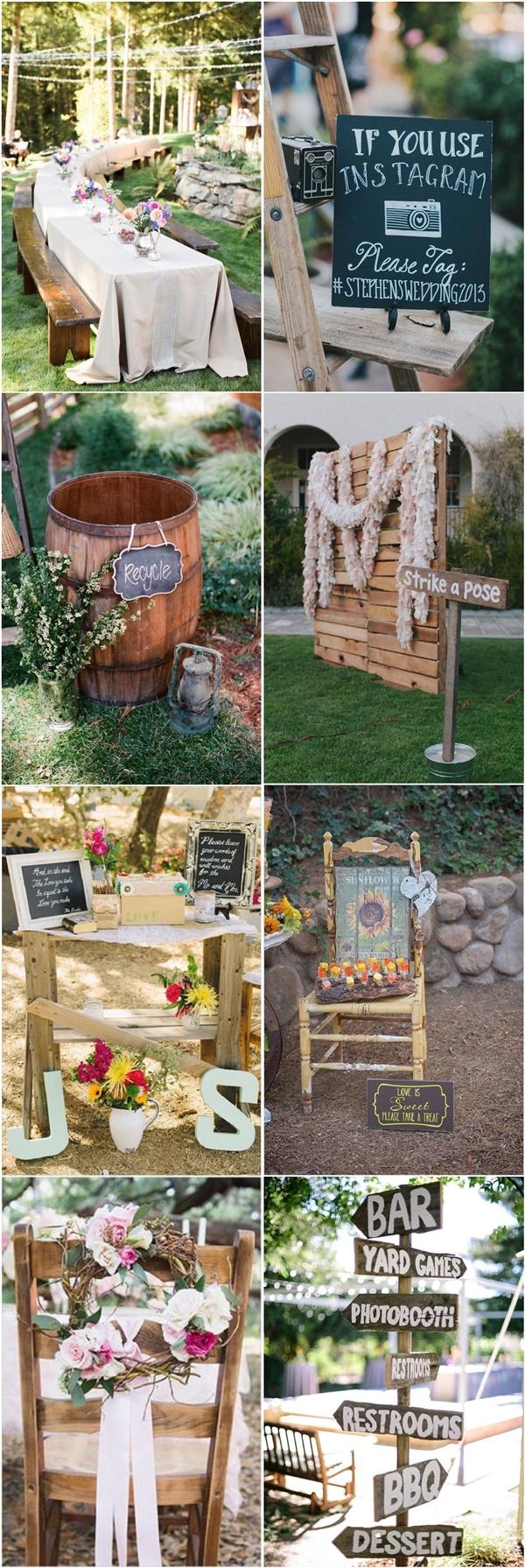 35 Rustic Backyard Wedding Decoration Ideas   Deer Pearl ... on Rustic Backyard Ideas id=28447