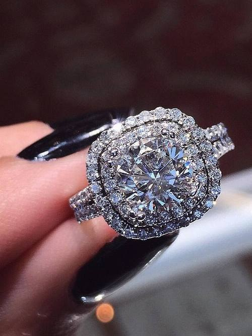 20 Double Halo Engagement Ring Ideas For You Deer Pearl