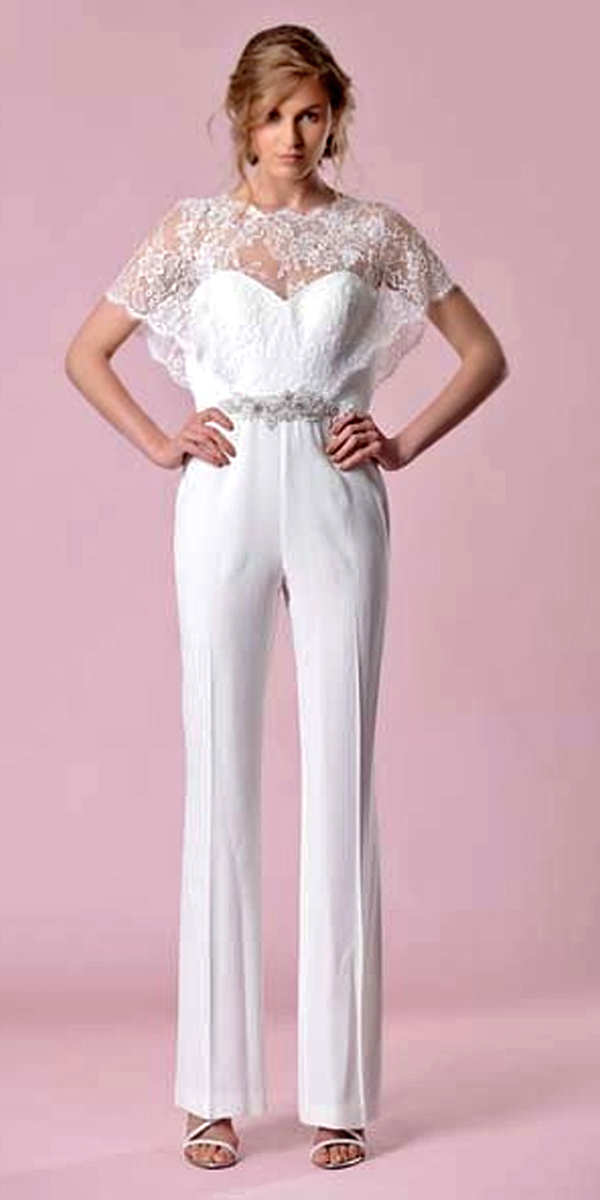 28 Gorgeous Wedding Pantsuits And Jumpsuits For Brides