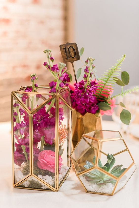 2020 Modern Wedding Trend Terrarium Geometric Details Amp Ideas Deer Pearl Flowers