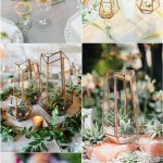2020 Modern Wedding Trend Terrarium Geometric Details Ideas Deer Pearl Flowers
