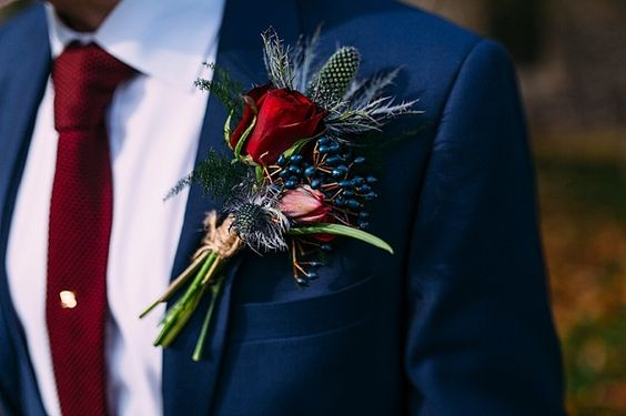 Wedding Maroon Bouquets Fall