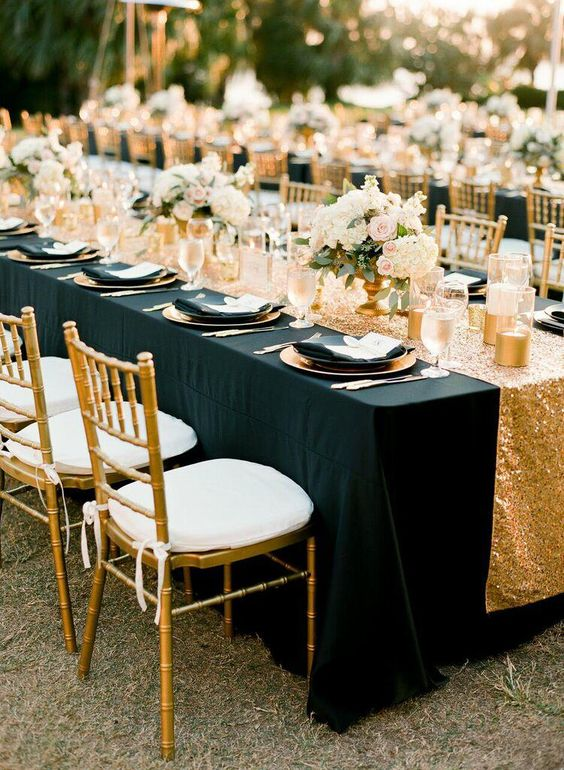20 black and gold wedding color ideas