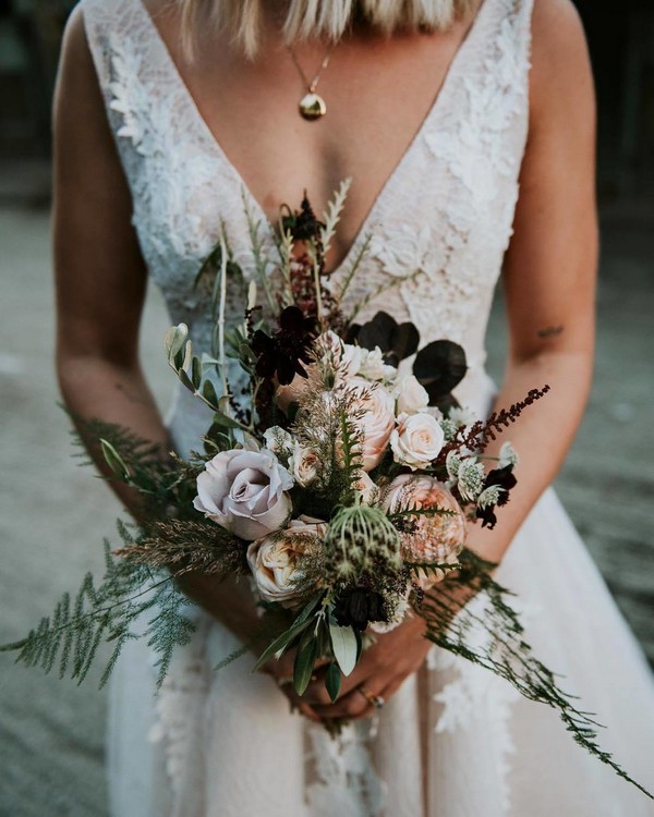 Blush and greenery wedding bouquet5