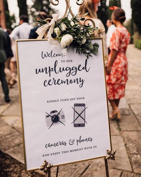 unplugged wedding ceremony sign 9