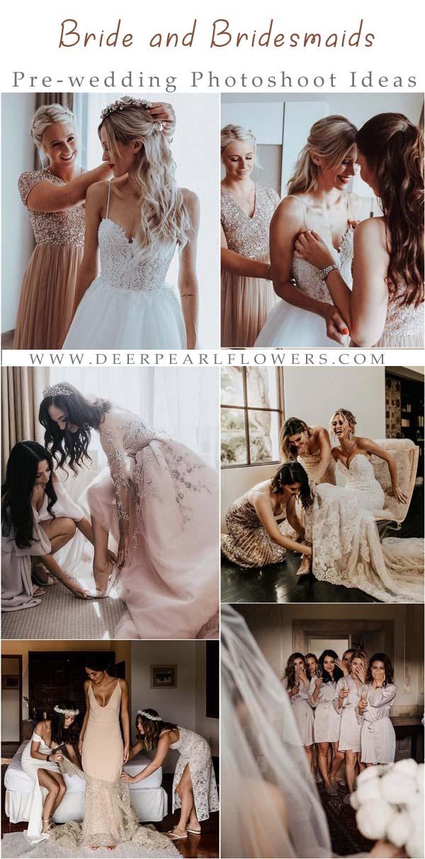 Bride and Bridesmaids Pre Wedding Photoshoot Ideas3