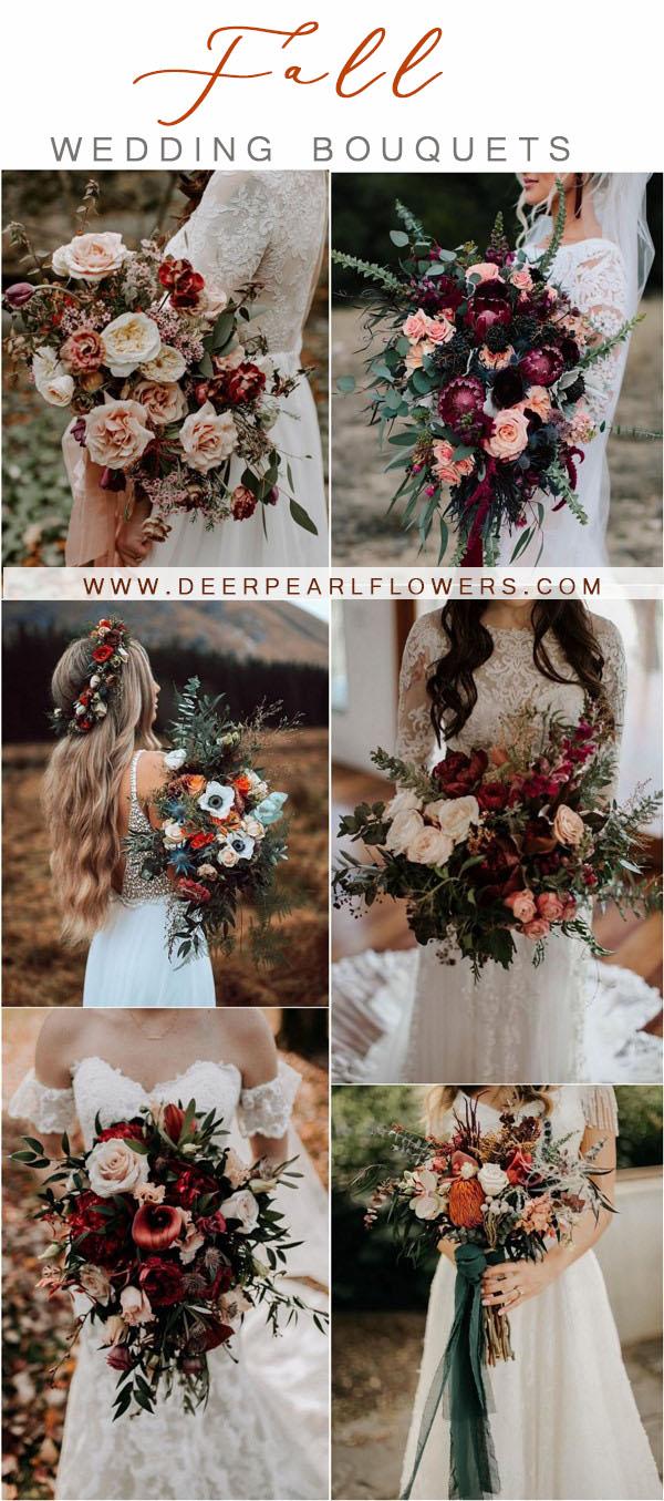 fall wedding ideas-case wedding bouquets