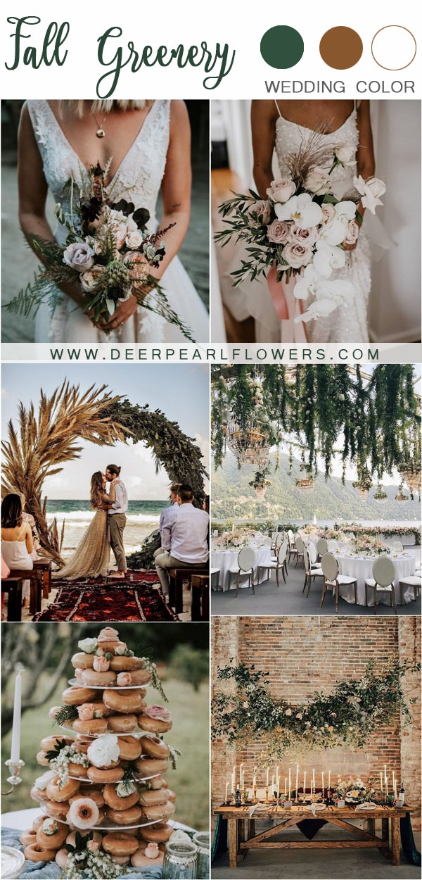 rustic case greenery wedding decor ideas