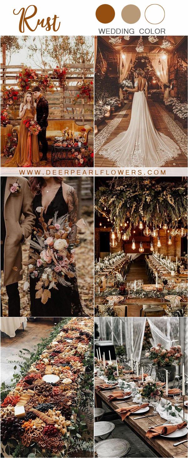 rustic wedding ideas- rust wedding color ideas