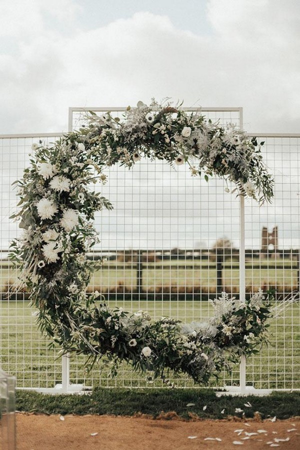 wedding floral moon gates monn wedding arch the wild bride