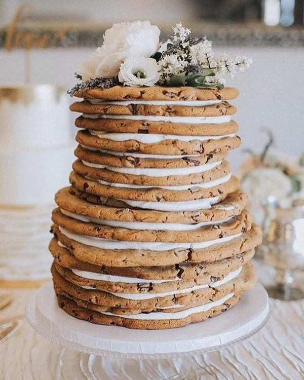 rustic naked wedding cake 9