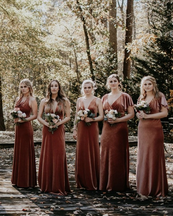 Jenny yoo mix and matched bridesmaid dresses 3