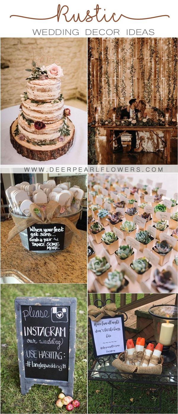rustic country wedding decor ideas
