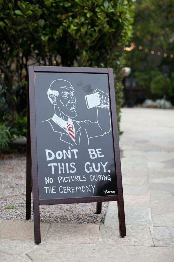 wedding sign ideas for unplugged wedding ceremony