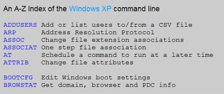windows xp promt dei comandi