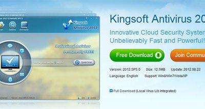 Kingsoft Cloud Antivirus gratis per il tuo computer