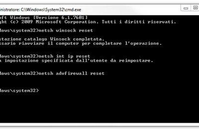 Reset scheda di rete in Windows Vista / 7 / 8 / 8.1