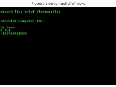 Come rilevare il modello della scheda madre del computer senza programmi esterni