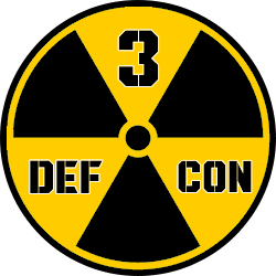 Current defcon level alert status today