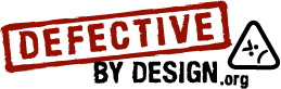 Defective By Design logo
