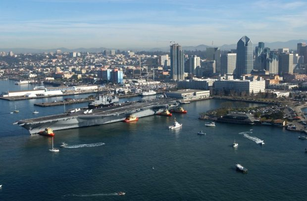 Aircraft carriers are massive