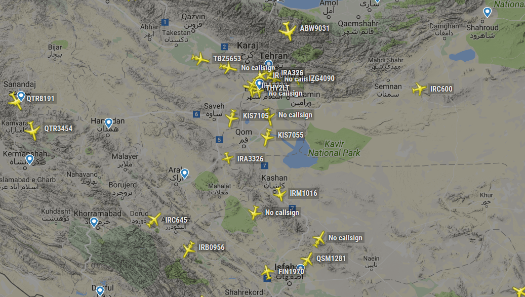 Dozens of Aircraft with No Call signs and