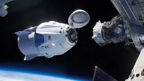 SpaceX NASA First Astronaut Flight to The International Space Station Begins a New Era of Spaceflight for The United States