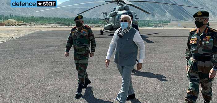 Photo: PM Modi Leh Visit China Border