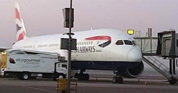 India UK British Airways Flight