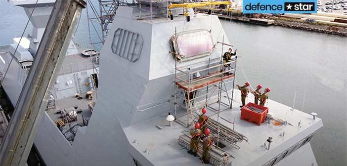 IAI Barak MX Missile Installed on Israel Navy's Sa'ar 6 Corvette Ships.