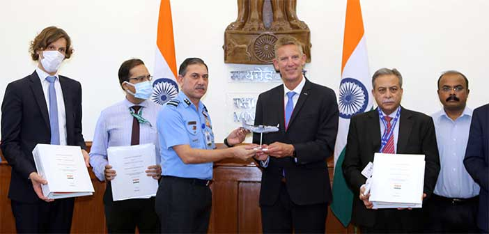 Airbus C-295 contract signed in New Delhi.