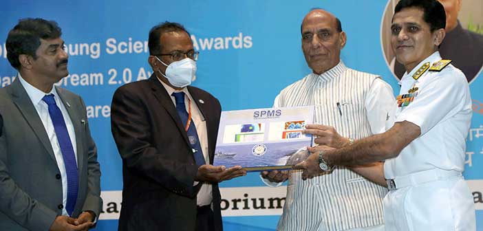 Defence Minister hands over Sonar Module to Navy.
