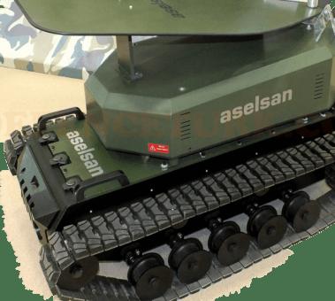 Ejderha Mikrodalga Sistemi insansız kara aracına monteli