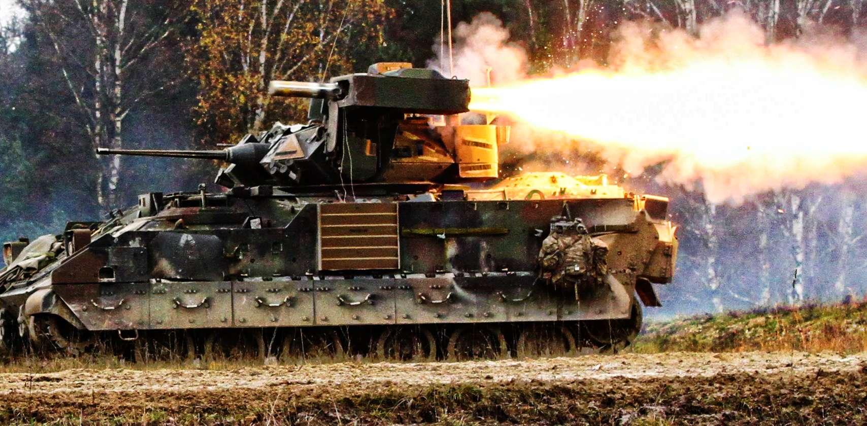 M2 Bradley firing TOW missile