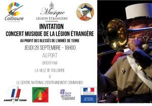 Concert musique de la Légion Étrangère au profit des blessés de l'armée de Terre