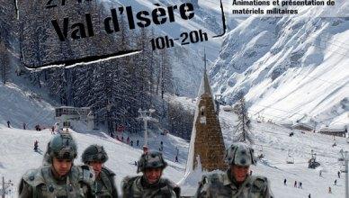 Journée de solidarité avec les blessés de l'armée de Terre à Val d'Isère par le 27ème BCA
