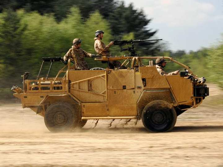 The Jackal 2 combines the Jackal's mobility with the protection needed today on the battlefield, and is part of the British MoD's response to criticism that some of its vehicles were under-armored. Photo courtesy of UK MoD.