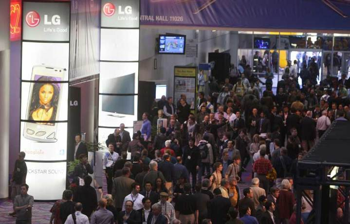 Scene from the LG booth at the Consumer Electronics Show, Las Vegas, Nev., January 2010. Photo courtesy of LG.