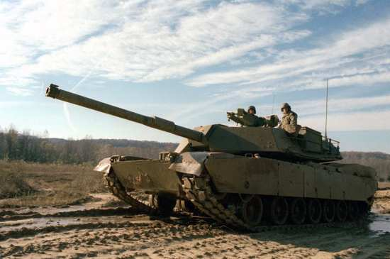 An XM-1, that will replace the M-60 series, during a demonstration on the test range, Fort Knox, Ky., Dec. 1, 1979. DoD photo