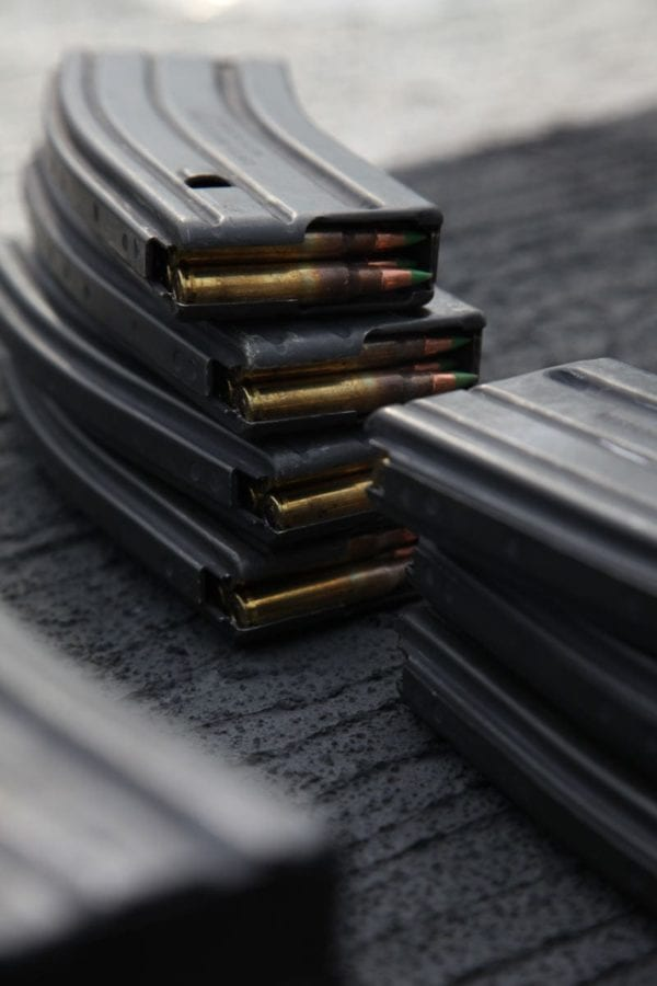 M16/M4 magazines are prepared for a training exercise. The U.S. Army is procuring another 550,000 30 Round Improved Magazines for M16/M4 weapons from Brownells Inc. U.S. Marine Corps photo by Lance Cpl. Tammy H. Hineline.