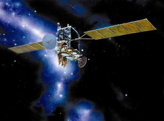 The four-satellite AEHF constellation will combine Milstar and DSCS capabilities, and support UAVs through Advanced Beyond-Line-of-Sight Terminals being developed for the program. Lockheed Martin photo.