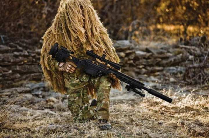 Remington image of a soldier with the new M24E1 sniper rifle.