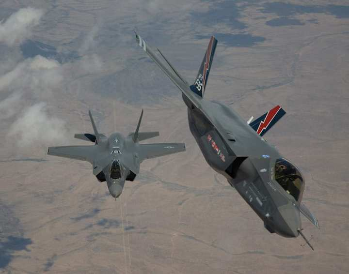 F-35A aircraft AF-1 and AF-2 arrive at Edwards Air Force Base for testing. Lockheed Martin photo.