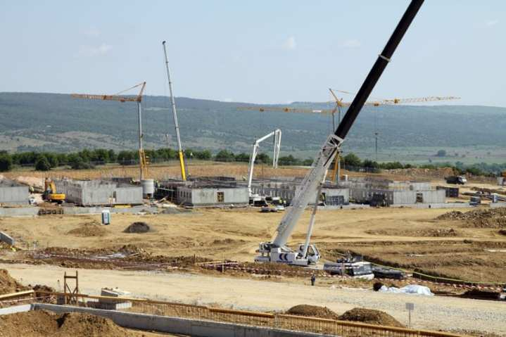 Steady progress continues on a $50 million design-build project at Novo Selo Training Area in eastern Bulgaria to construct a training base to be used by Bulgarians, Americans, and international allies. The U.S. Army Corps of Engineers Europe District, which is managing the project, is committed to working in the spirit of cooperation and continuing project development. Photo courtesy of the U.S. Army Corps of Engineers, Justin M. Ward