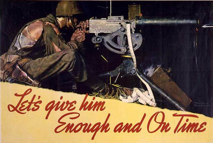 World War II propaganda production poster