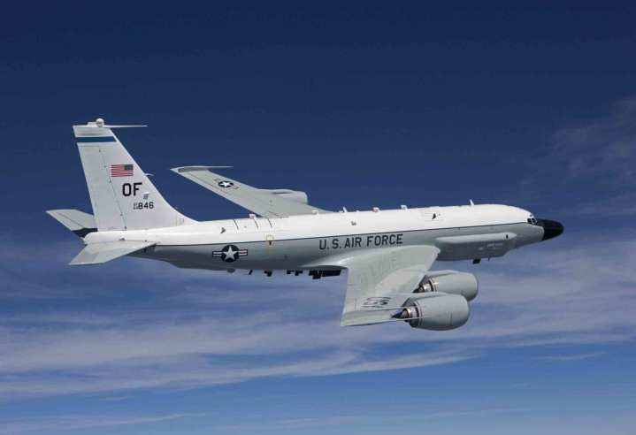 USAF RC-135 is the basis for the British Air Seeker
