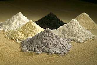 Rare earth oxides.
