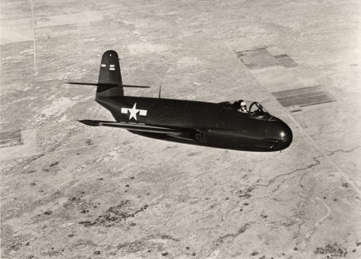 A Vought F6U Pirate in flight in 1946. Vought photo